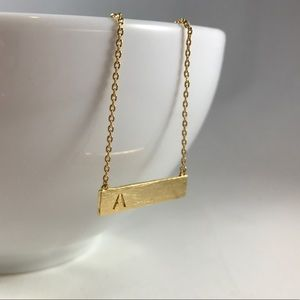 Jewelry - ⭐️ Handmade Gold Pendant Initial Necklace